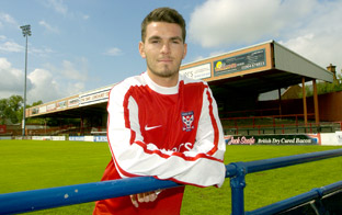 City's new  midfielder Michael Potts surveys his new Bootham Crescent domain