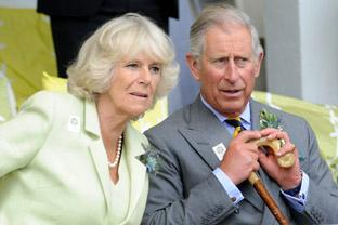 The Prince of Wales and Duchess of Cornwall at the Great Yorkshire Show in Harrogate.