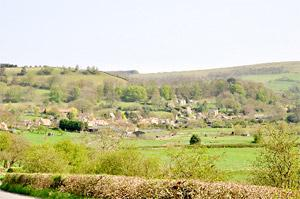 York Press: Boltby village lies nestled in the hillside, and right, Felixkirk church