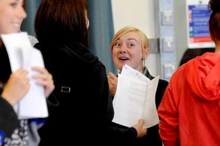 GCSE results day at York High School