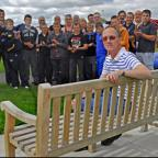 York Press: Ronnie Hamilton in the seat dedicated to the memory of his son, Sean, at York Acorn Rugby Club