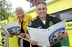 Yorkshire Ambulance Service chairman Della Cannings takes a look at the  consultation document with chief executive David Whiting