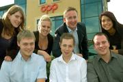 CPP's UK learning and development manager, Daniel Godfrey, back row, with some of those in the apprenticeship programme. From left, Rachel Mason, Martyn Woodward, Laura Thornton,  Tom Bonner, Tom Buck and Lorraine Musgrove