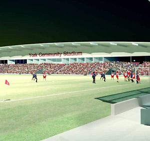 How a new community stadium for York could look