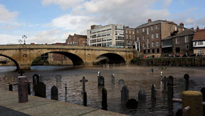 York Press: A still from the Think, Don't Swim film showing graves in the River Ouse.