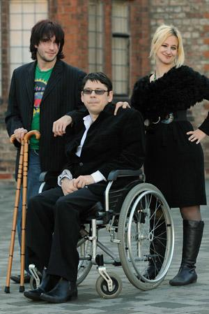 Disabled entrepreneurs (from left) Dom Smith, Shane Bratby and Annie Makoff