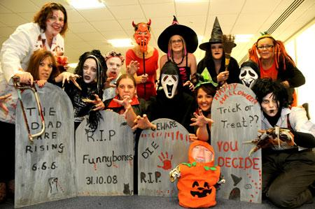 Staff at Superbreak Mini Holidays dressed for Hallowe'en to raise money for charity.