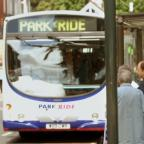 Catching a Park&Ride bus in the centre of York