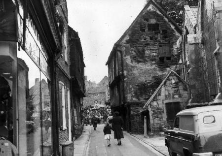 Patrick Pool in York in 1957, before the building on the right (now Pivni bar) was restored.