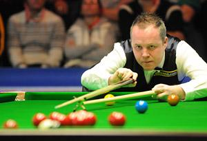 John Higgins in action during last year's UK Snooker Championships in York