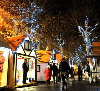 Christmas Market In Parliament Street