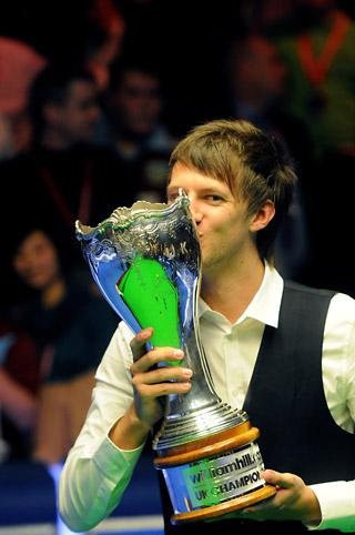 Judd Trump wins the UK Snooker Championship that returned to York in 2011