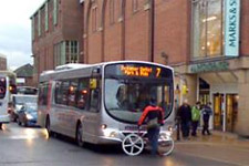 York Press: Cyclist stages one-man protest in front of bus in Piccadilly, York