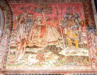 York Press: The interior of the church boasts incredible old wall paintings