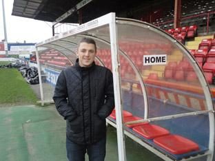 York City's new signing, Scott Brown, at Bootham Crescent