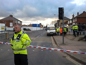 Unexploded bomb uncovered in York