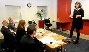 York Press: Vanessa Warn, owner of Little Green Rascals, makes her presentation to Local Business Accelerator judges