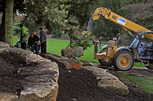 Landscaping underway at Museum Gardens