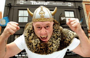 Shaun Collinge, of The Maltings pub in York, who is believed to be descended from the Vikings