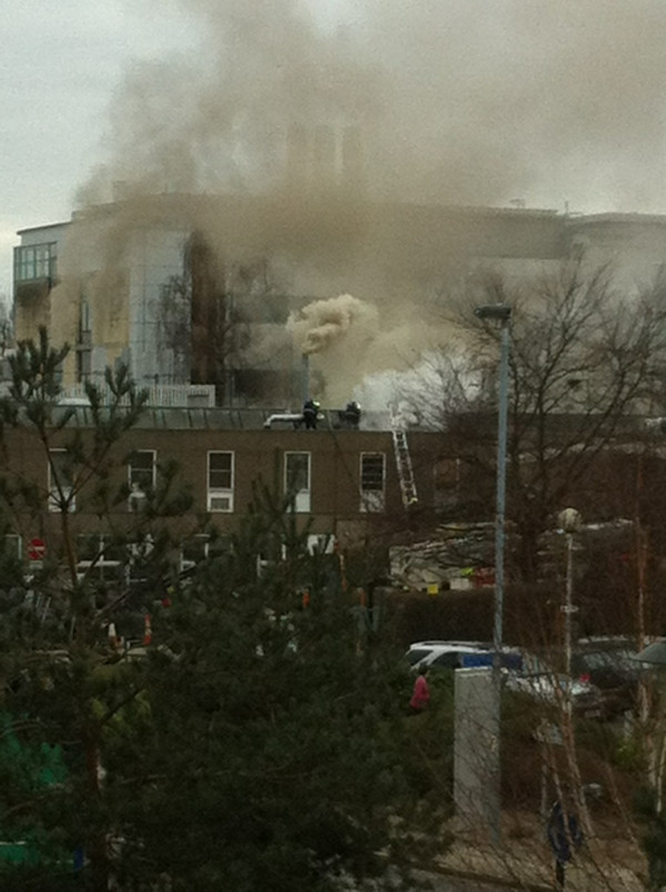 Fire at University of York