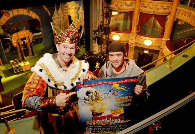 Steven Pacey, left, and Todd Carty in Spamalot which runs until Saturday at the Grand Opera House in York