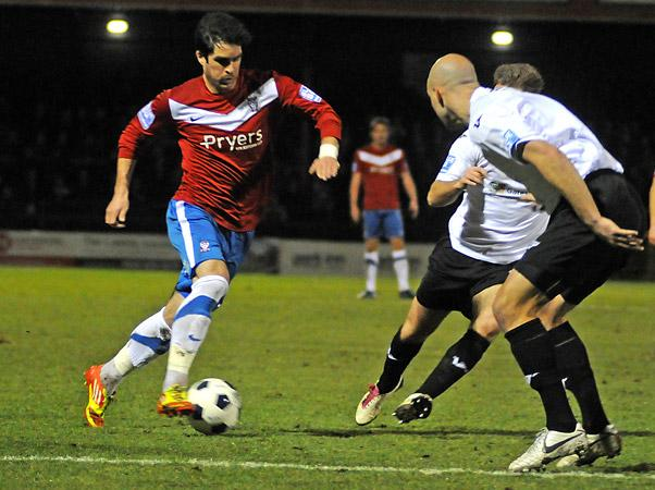 York City's  ex-Mansfield man Jon Challinor is confident about reaching Wembley for a second time this season