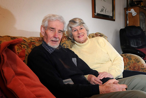 Jim and Rosemary today, at home in York