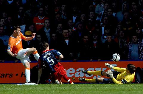 May, 2010 and Michael Ingham and David McGurk thwart Luton in the play-off semi-final, second leg at Kenilworth Road
