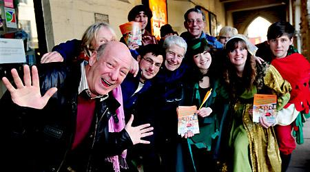 Berwick Kaler joins the queue for tickets for Theatre Royal's Panto, Robin Hood.
