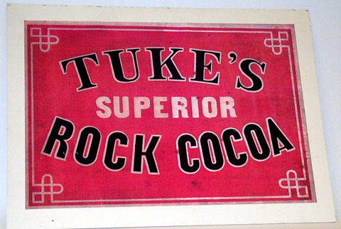 Tuke's Rock Cocoa advert