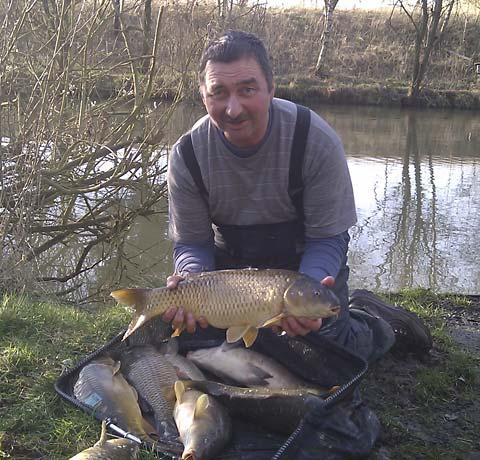 York Joinery angler Paul Kozyra and part of his winning catch at Raker Lakes