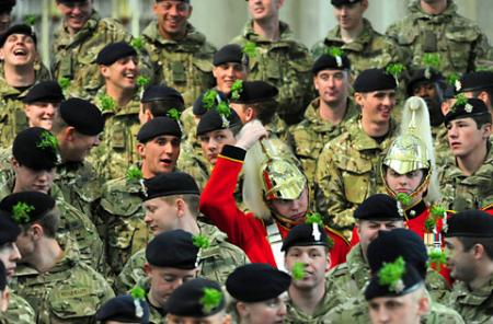 Royal Dragoon Guards in York Minster for a service to commemorate Captain Oates