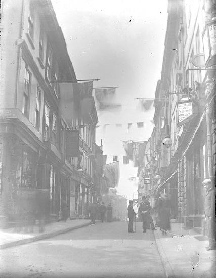 High Ousegate, pictured during celebrations for Queen Victoria's diamond jubilee in 1897.