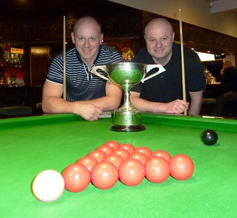 Scruton Cup winner Lee Taylor, left, and runner-up Clive Whyte