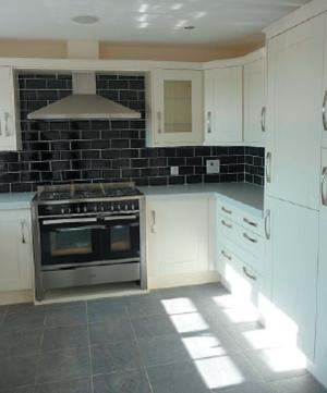 A kitchen at the Sherburn development,