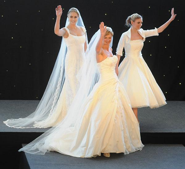 Models at The Brides  wedding fair held at York Racecourse