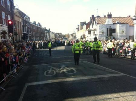 Scene at Micklegate. Picture City of York council