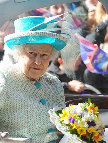 The Queen arrives at York Minster