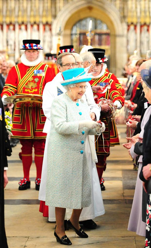 York Press: Her Majesty the Queen gives out the Maundy Money at York Minster