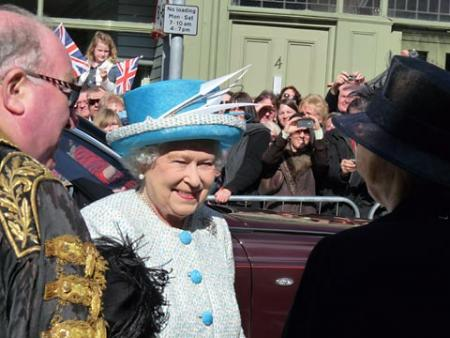 The Queen at Micklegate Bar. Picture: Laure Sirvin