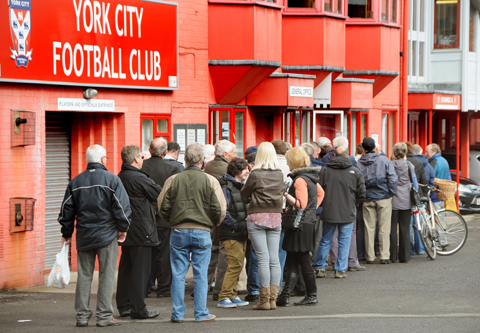 Fans queue for Wembley tickets