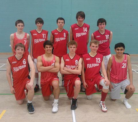 Fulford School Under-16s basketball team, who won the North Yorkshire Basketball Championships