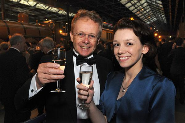 Ian Reed, of the Yorkshire Air Museum, with daughter Catherine at the Visit York tourism awards, held at the National Railway Museum where Mr Reed was named York Ambassador