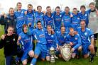 Old Malton St Mary's celebrate their York FA Saturday Senior Cup final win over Dunnington