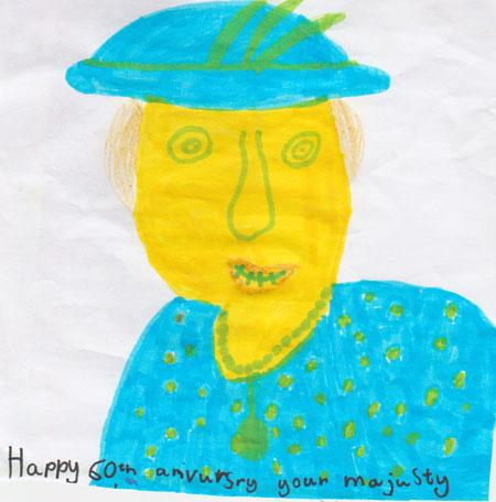An image by Violet Paviour, aged six, of St Oswald's School
