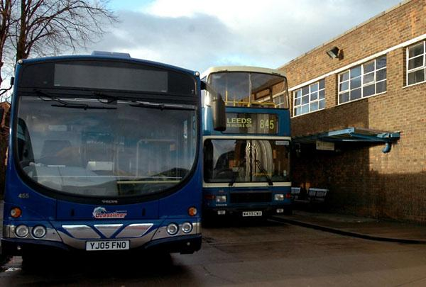 Coastliner buses in Malton on their way to York