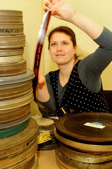 Alex Hutchinson, archives assistant with Nestlé in York, who is looking for rare film from the company's collection