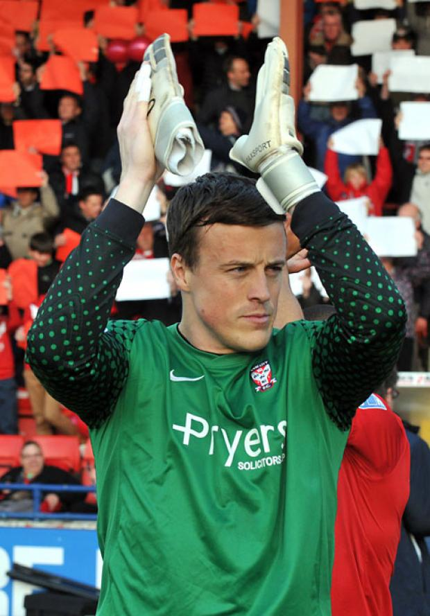 York City goalkeeper Michael Ingham makes his return against Mansfield