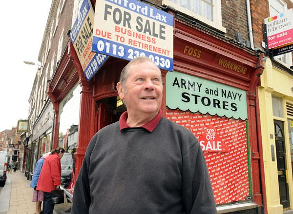 Current store owner David Storey who is retiring