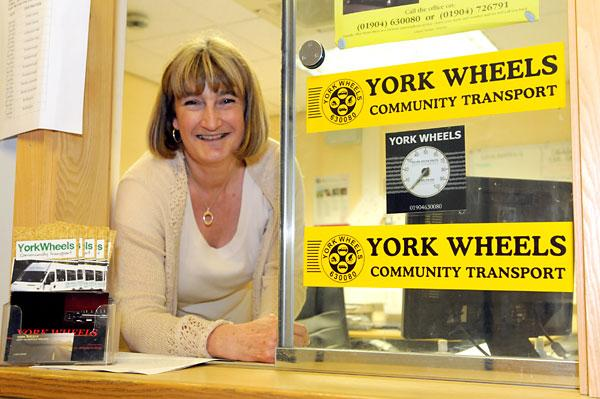 York Wheels operations manager Ruth Potter. The organisation has been nominated for the Service With A Smile category in the Community Pride Awards